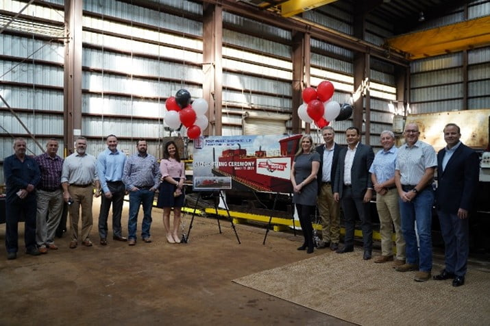 Hooks Newest Dredge Lorraine Announced at Steel Cutting Ceremony
